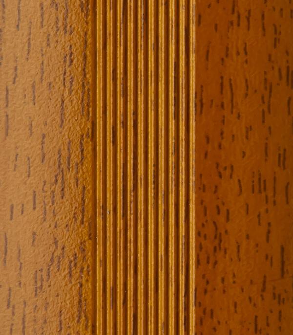 Порог стыкоперекрывающий 40х1800 мм с дюбелем вишня