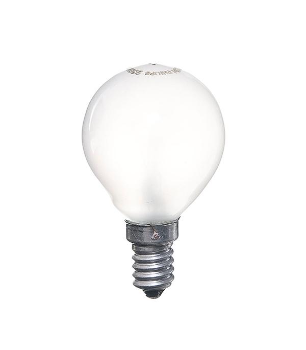 Лампа накаливания Philips E14 60W Р45 шар FR матовая лампа накаливания philips p45 60w e14 cl