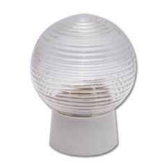 Светильник НББ, шар, прямое основание/стеклянный плафон, 60 Вт, IP20, белый