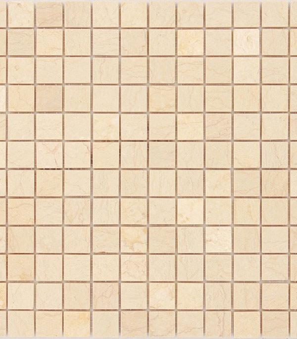 Мозаика из натурального камня 298х298х4 мм Botticino/Карамелле