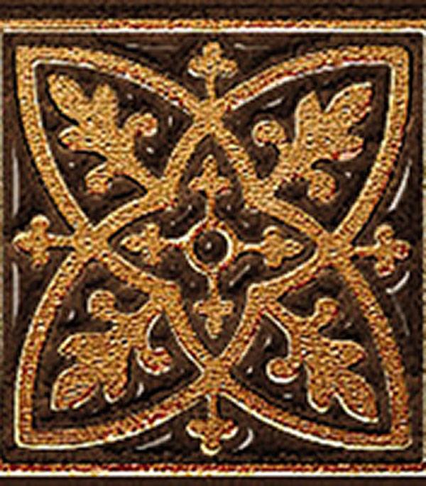 Керамогранит декор 60х60х9 мм Лиссабон шоколад/Керамика Будущего