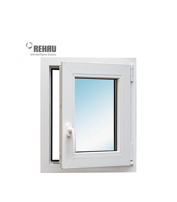 Окно металлопластиковое REHAU 600х600 мм белое поворотное правое окно металлопластиковое rehau 1440х1160 мм белое 2 створки поворотно откидное правое поворотное
