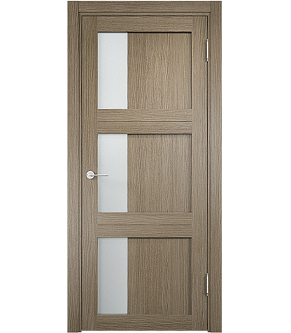 Дверное полотно экошпон ДПО Баден 06 Дуб дымчатый 800х2000 мм дверная ручка банан где в санкт петербурге