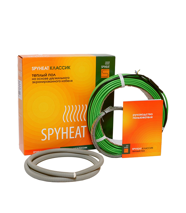 Теплый пол комплект нагревательный кабель SPYHEAT 120 м (11,2-15,0 м. кв./1800 Вт)
