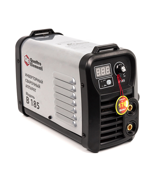 Сварочный аппарат (инвертор) Quattro Elementi B 185, 170В, 185А, ПВ 80%, до 4.0 мм, дисплей