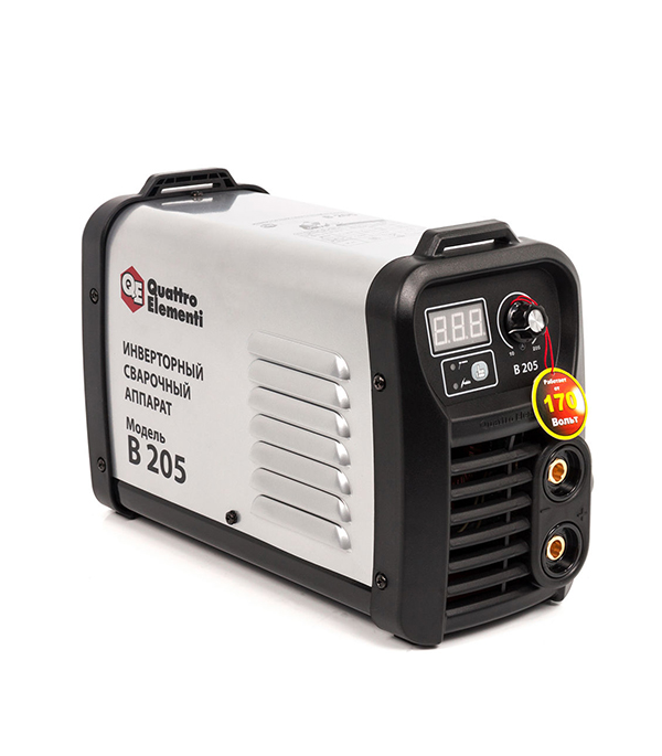 Сварочный аппарат инвертор Quattro Elementi B 205  зажим массы 200а quattro elementi