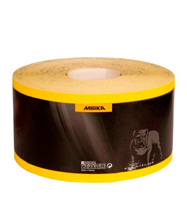 Наждачная бумага Mirox Mirka P120 желтая 115 мм 50 м бумага шлифовальная mirox 93мм x 5м р120