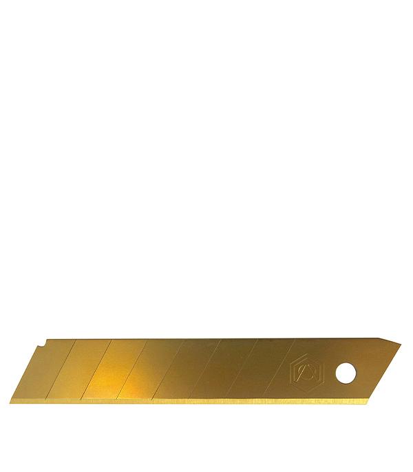Лезвие для ножа прямое, титановое покрытие 25 мм 5 шт Стандарт