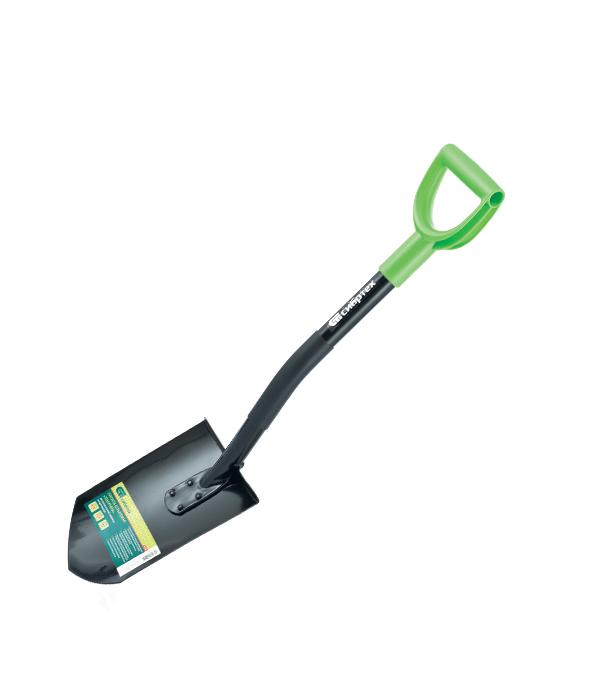 Лопата штыковая укороченная, металлический черенок // СИБРТЕХ