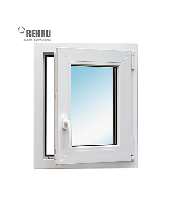 Окно металлопластиковое белое  Rehau Blitz 600x500 мм поворотное правое
