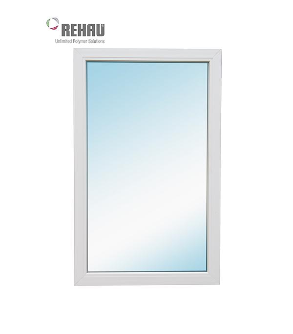 Окно металлопластиковое белое  Rehau Blitz 1160х720 мм глухое
