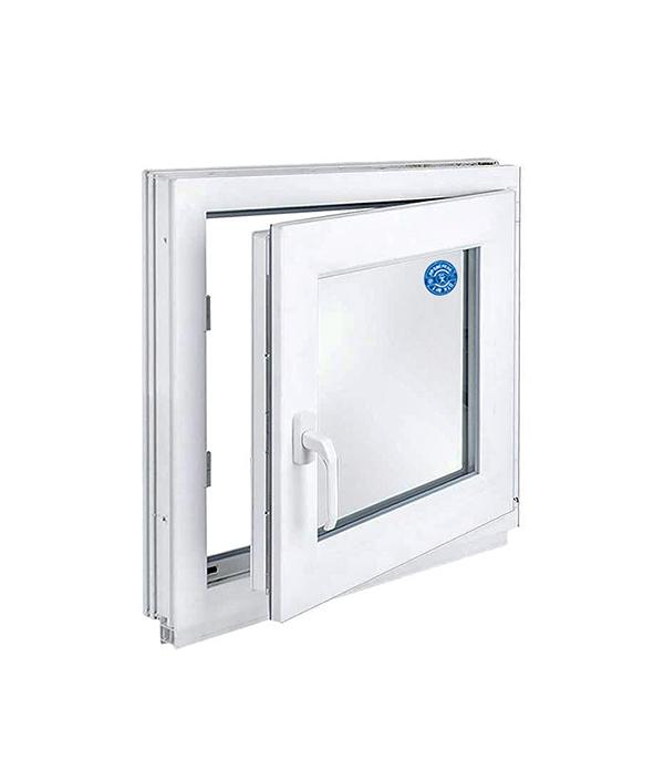 Окно металлопластиковое белое  600х600 мм откидное