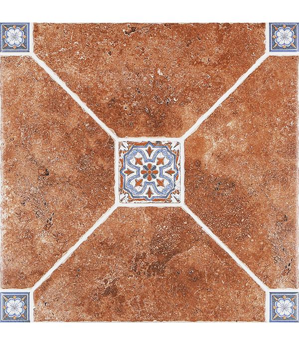 Керамогранит 500х500х9 мм Мадейра 4-2 коричневый/Керамин (5шт=1,25 кв.м)