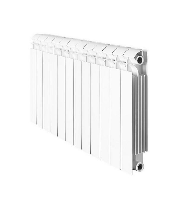 Радиатор биметаллический 1 GLOBAL Style Plus 500, 12 секций радиатор отопления global алюминиевые vox r 500 12 секций