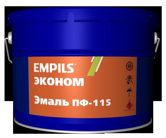 Эмаль ПФ-115 черная эконом EMPILS 20 кг