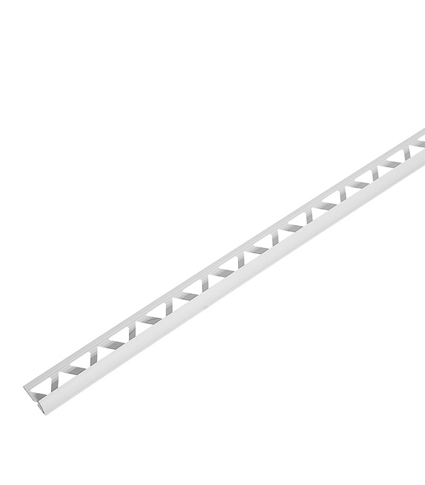 Уголок для кафельной плитки наружный 7 мм 2,5м белый