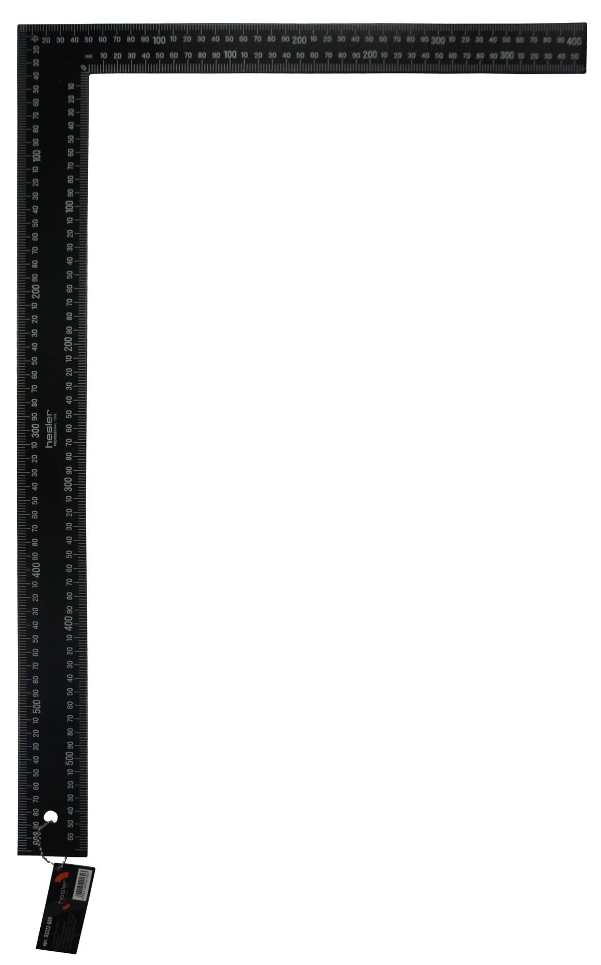 Угольник строительный 600мм металлический окрашенный Hesler Стандарт