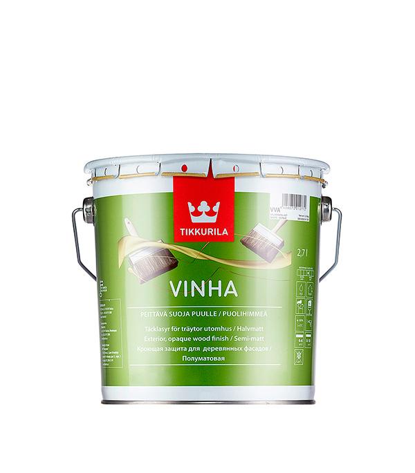 Антисептик кроющий Tikkurila Vinha основа VVA 2.7 л кроющий антисептик д дерева vinha vc 9 л