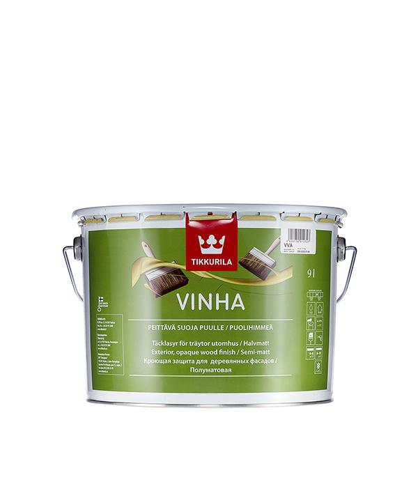 Антисептик кроющий Tikkurila Vinha основа VVA 9 л кроющий антисептик д дерева vinha vc 9 л