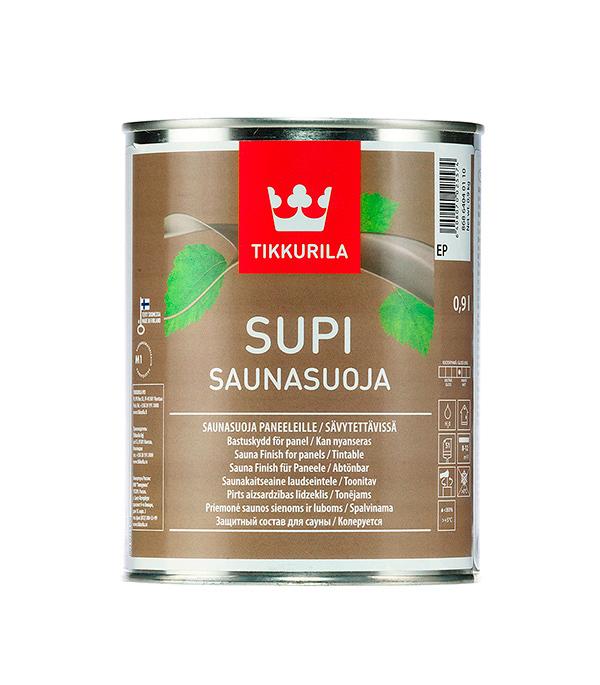 Защитный состав для бани Tikkurila Supi Saunasuoja 0.9 л состав для полка tikkurila supi laudesuoja защитный бесцветный 1л