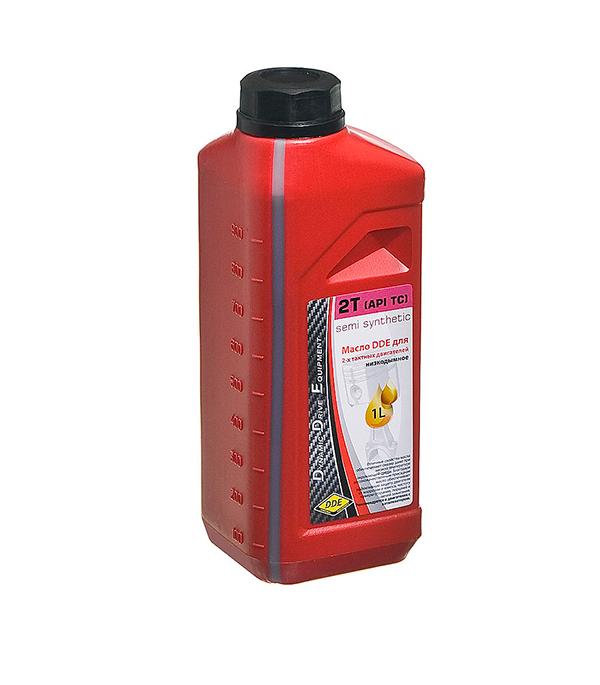 Масло для 2-х тактного двигателя полусинтетическое 1л DDE