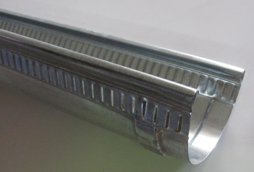Желоб водосточный оцинкованный L-100 mm/D-125