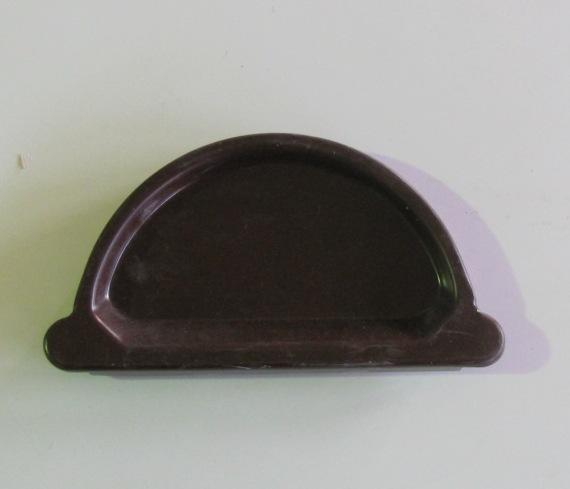 Заглушка желоба оцинкованная коричневый D-125