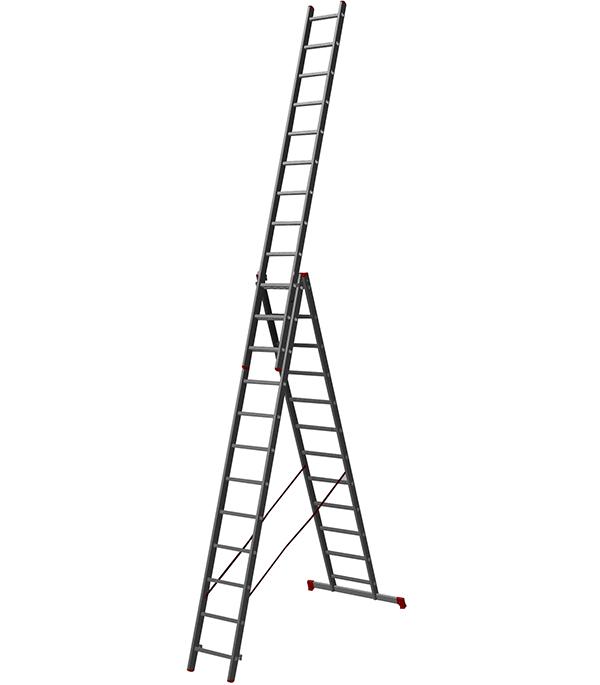 Лестница 3-х секционная бытовая 3x12 Новая высота Эконом