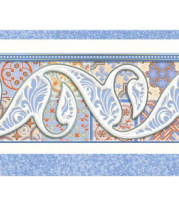 Плитка декор Валенсия D1 Люкс 250х500х8мм синяя плитка вкз лаура зеленая в спб