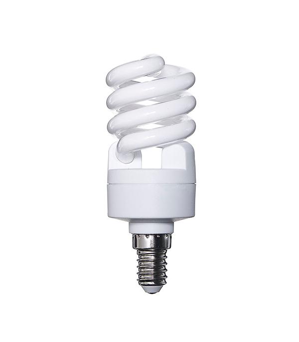 Лампа энергосберегающая E14, 12W, MiniTwist, 4000К (холодный свет), Osram