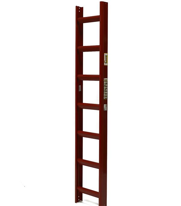 Лестница кровельная алюминиевая 7 ступеней красное вино RAL 3005 лестница алюминиевая 6 м купить