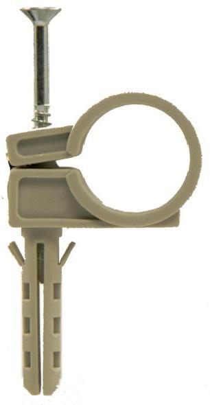 Хомут с дюбелем для трубы  40 мм (2шт.)