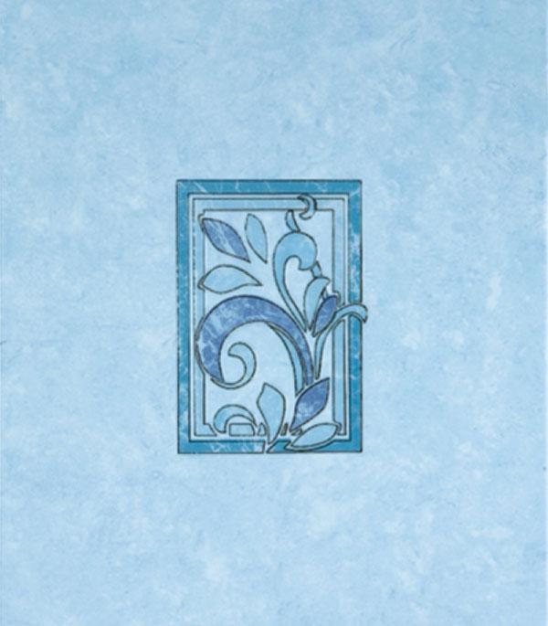 Плитка декор 200х300х7 мм Алтай D синий КПП
