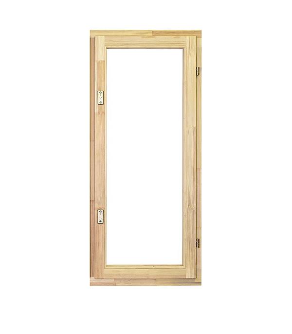Окно деревянное террасное 1160х570 мм 1 створка