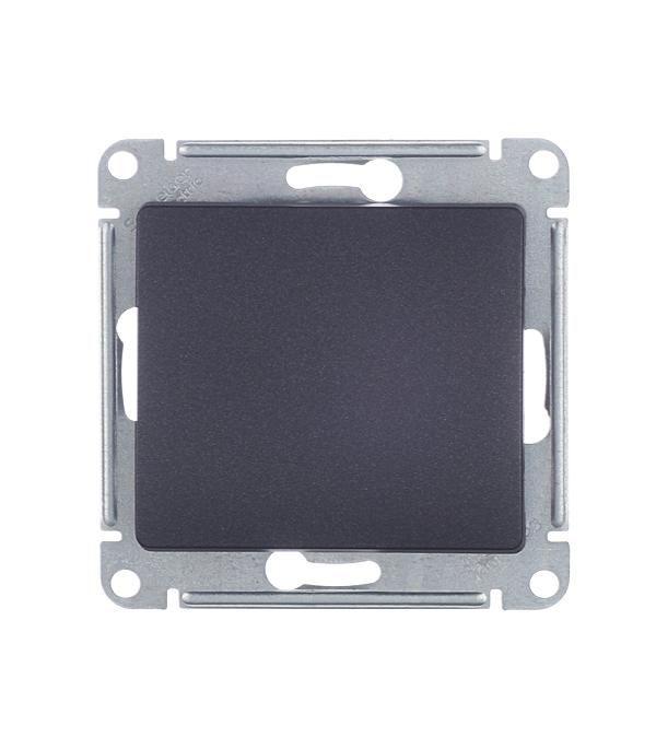 Механизмвыключателяoдноклавишногос/уSchneiderElectricGlossaантрацит механизм выключателя schneider electric glossa белый 1 клавишный с подсветкой gsl000113
