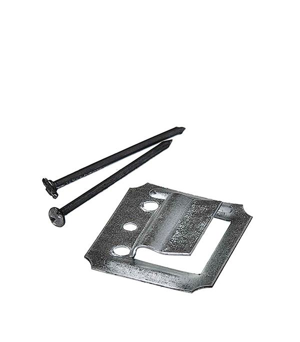 Крепеж (кляймер) №2 с гвоздями для вагонки и пластиковых панелей (100 шт.)