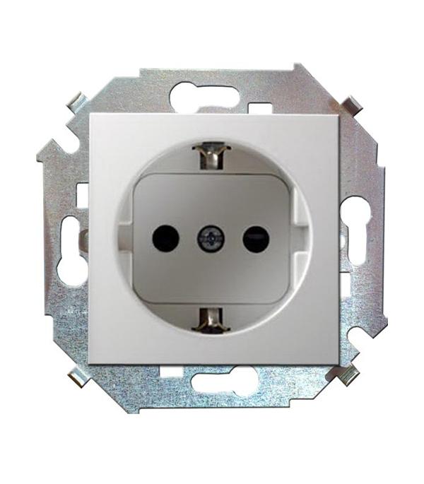 Механизм розетки Simon 15 Schuko с заземлением со шторками 16А белая simon розетки