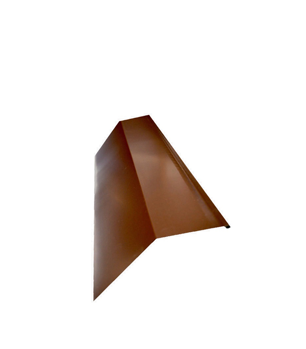Планка карнизная для металлочерепицы 50х100 мм, 2 м коричневая RAL 8017