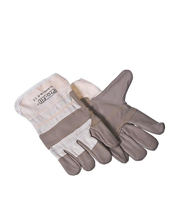 Перчатки из искусственной кожи,  с усиленной ладонной частью, комбинированные KWB Профи