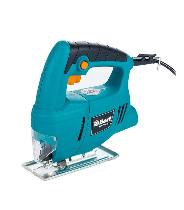 ЛобзикэлектрическийBortBPS-500-P400Вт bort bps 500 p 93720315 электрический лобзик blue