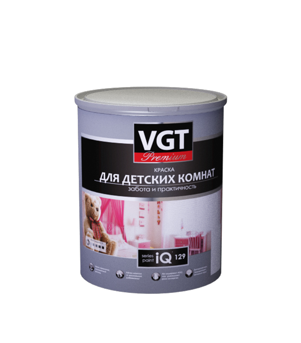 Краска в/д для детских комнат и спален iQ129 основа А матовая VGT 0,8 л