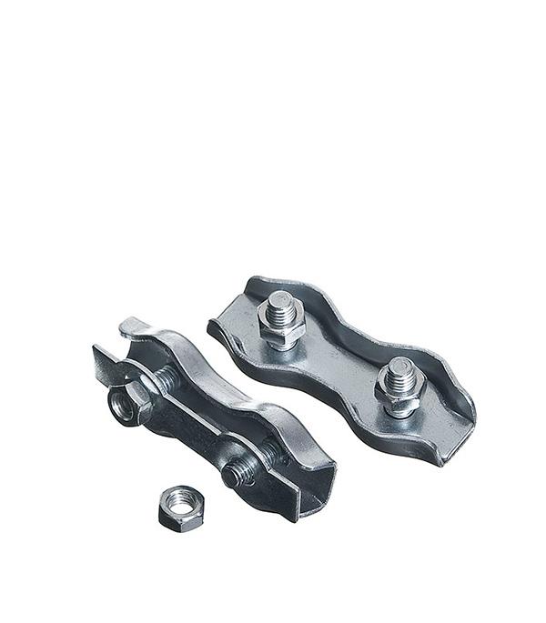 Зажим троса Duplex 3 мм (2 шт) ключ разводной хромированный truper 20 3 см