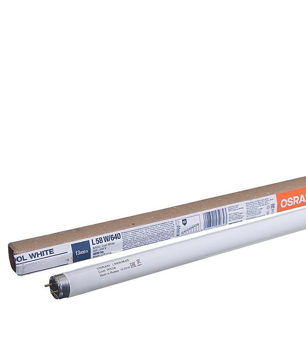 Люминесцентная лампа Osram 58W/640 холодный свет d26 Т8 G13 1500 мм люминесцентная лампа philips tl d36w 640 холодный свет d26 т8 g13 1200 мм