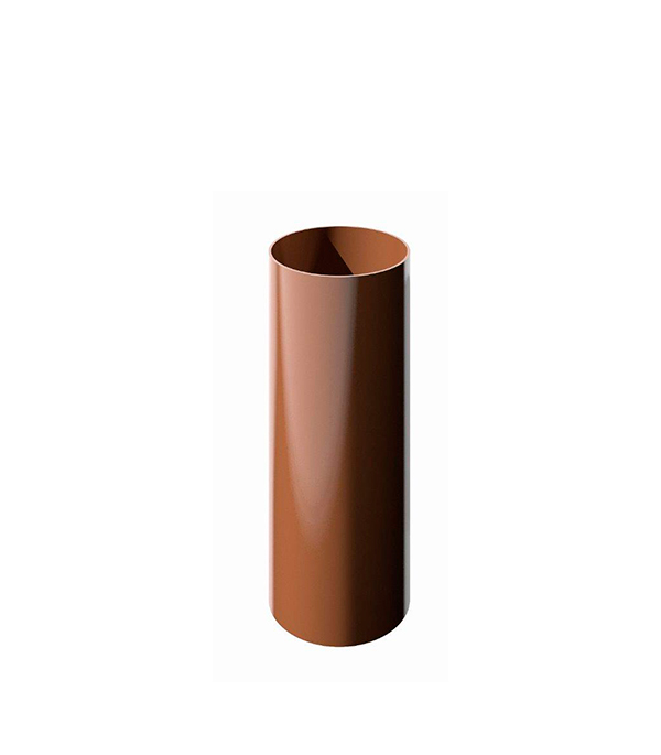 Труба водосточная пластиковая d90 мм коричневая 1,5 м Технониколь
