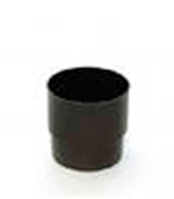 Муфта водосточной трубы пластиковая d80 коричневая  Murol