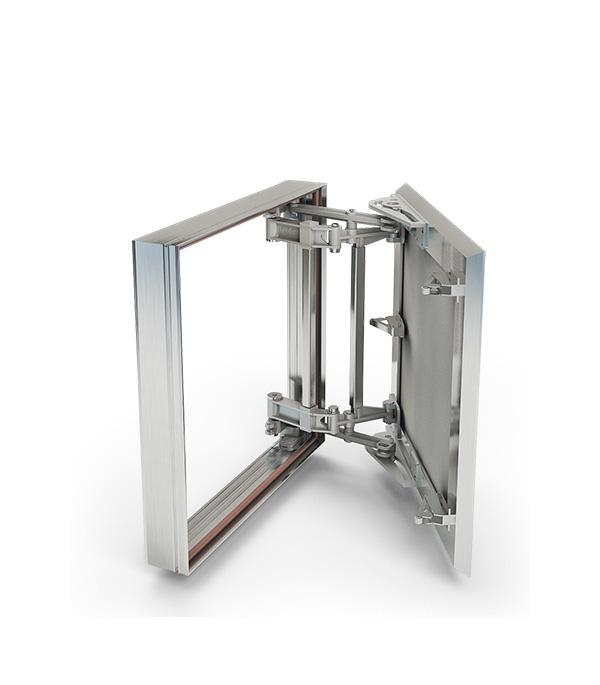 Люк ревизионный 500х800 мм под плитку алюминиевый Слава Хаммер