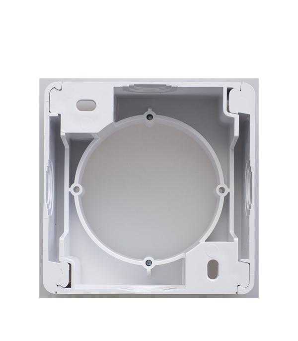 Коробка для наружного монтажа  SchneiderElectricGlossaбелый выключатель schneider electric glossa цвет титан