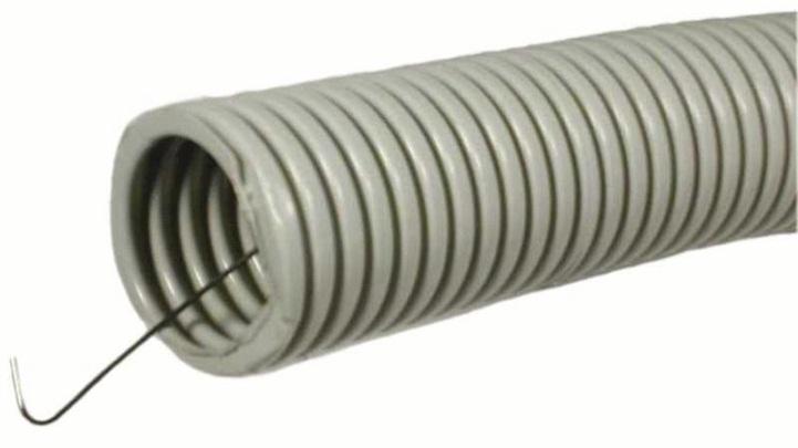 Труба ПВХ 40 мм, гофрированная с зондом (15 м)