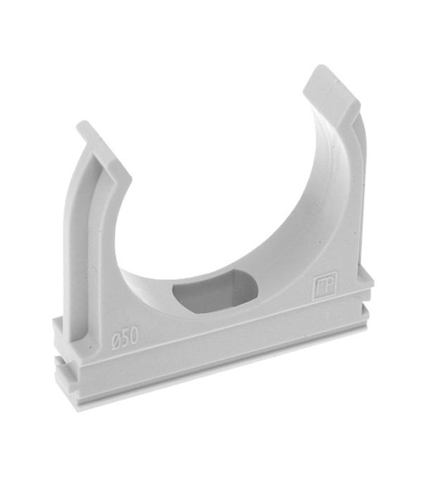 Крепеж-клипса для труб 16 мм серая (200 шт.)