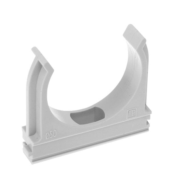 Крепеж-клипса для труб 20 мм серая (150 шт.)